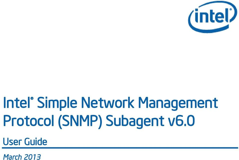 (SNMP) Subagent v6.