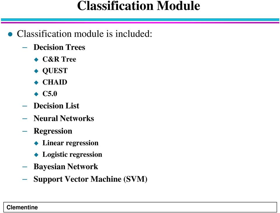 0 Decision List Neural Networks Regression Linear