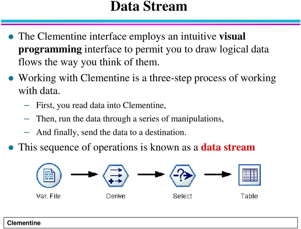 Working with is a three-step process of working with data.