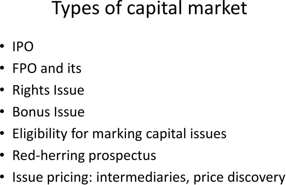 marking capital issues Red-herring