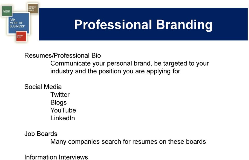 are applying for Social Media Twitter Blogs YouTube LinkedIn Job