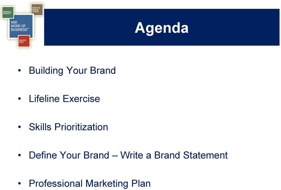Prioritization Define Your Brand