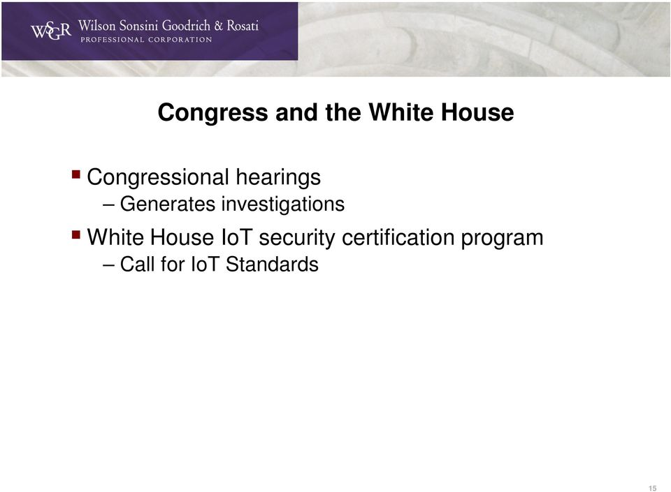 investigations White House IoT