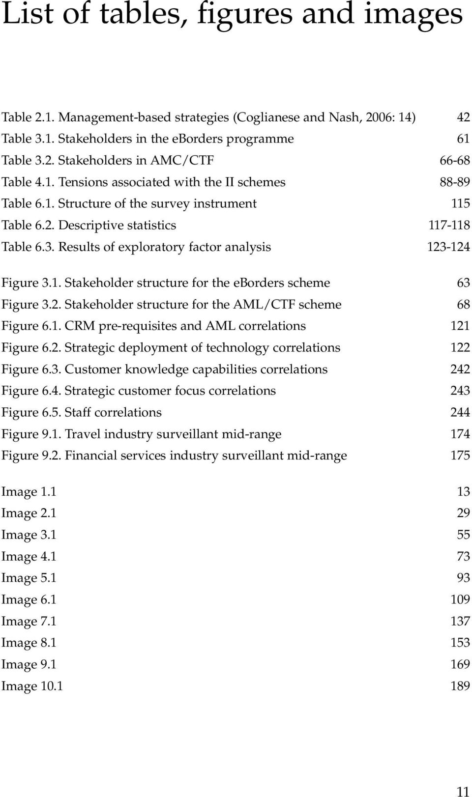 Results of exploratory factor analysis 123-124 Figure 3.1. Stakeholder structure for the eborders scheme 63 Figure 3.2. Stakeholder structure for the AML/CTF scheme 68 Figure 6.1. CRM pre-requisites and AML correlations 121 Figure 6.
