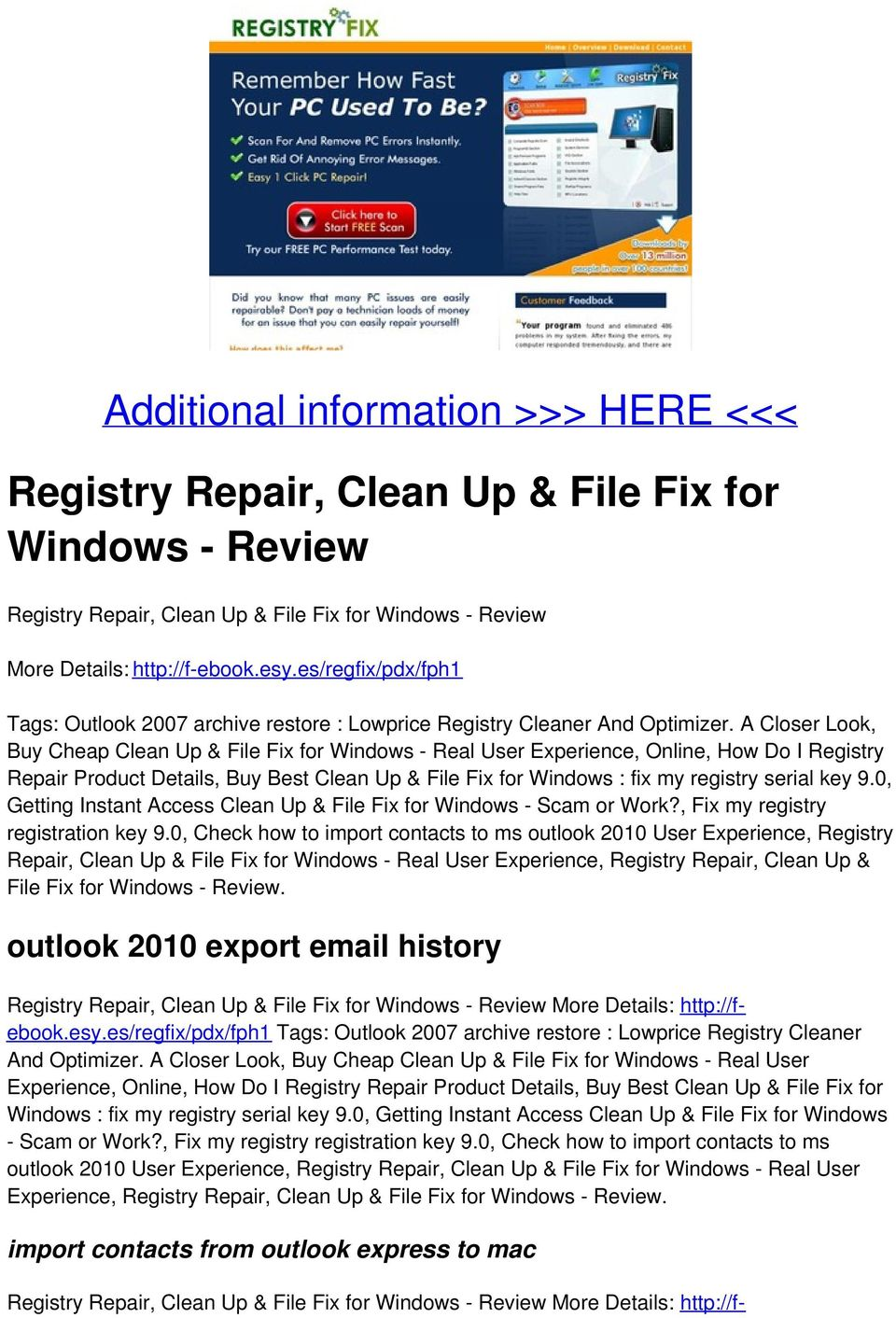 A Closer Look, Buy Cheap Clean Up & File Fix for Windows - Real User Experience, Online, How Do I Registry Repair Product Details, Buy Best Clean Up & File Fix for Windows : fix my registry serial