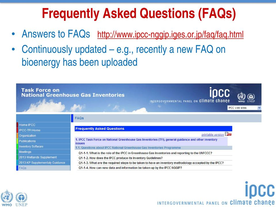 jp/faq/faq.html Continuously updated e.g.