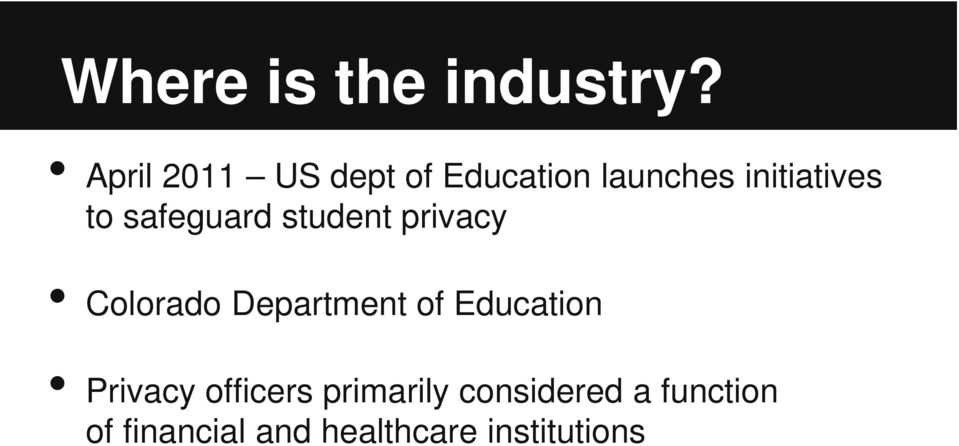 safeguard student privacy Colorado Department of
