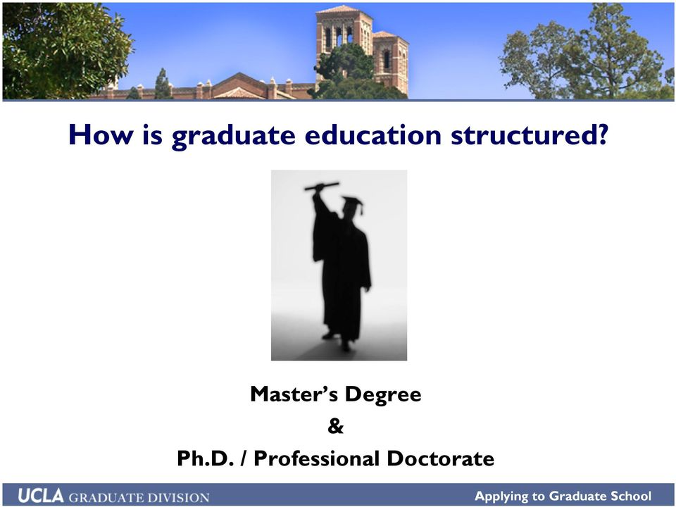 Master s Degree & Ph.