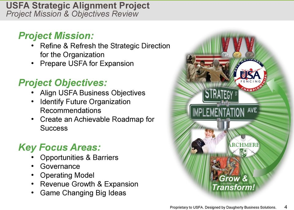 Objectives Identify Future Organization Recommendations Create an Achievable Roadmap for Success Key Focus