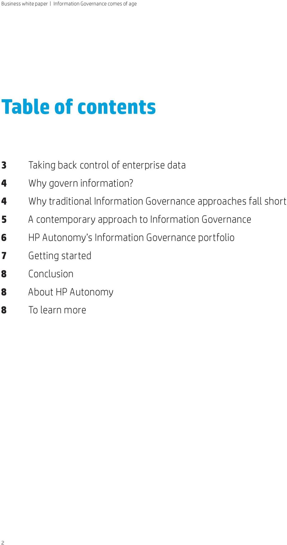4 Why traditional Information Governance approaches fall short 5 A contemporary