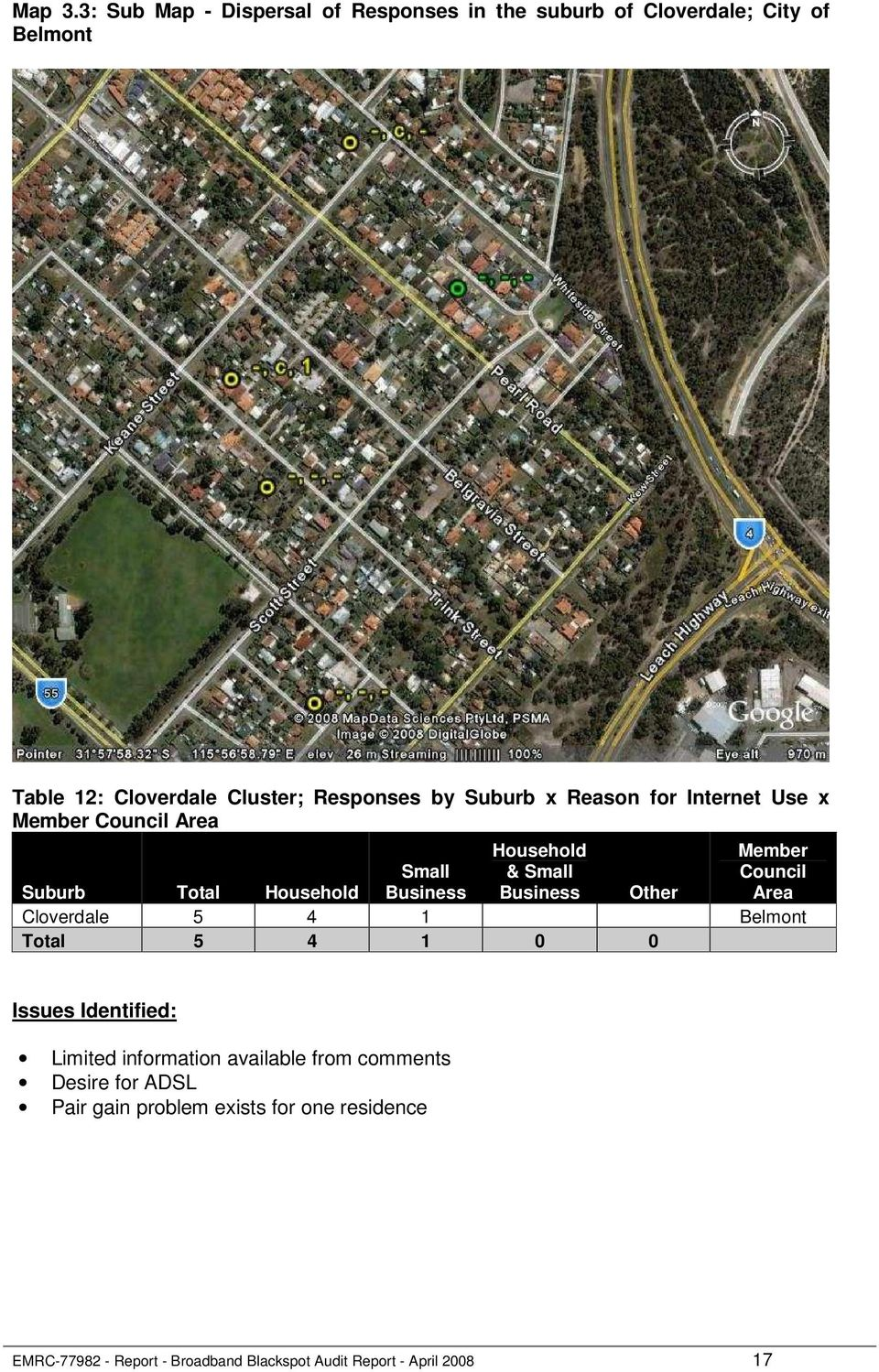 by Suburb x Reason for Internet Use x Member Council Area Household & Small Member Council Area Suburb Total Household