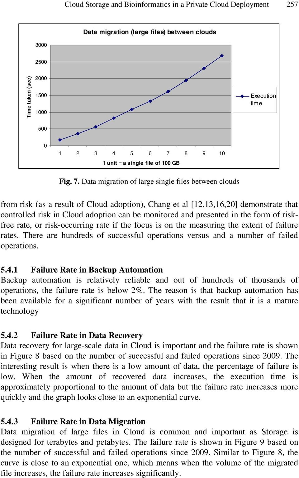 Data migration of large single files between clouds from risk (as a result of Cloud adoption), Chang et al [12,13,16,20] demonstrate that controlled risk in Cloud adoption can be monitored and