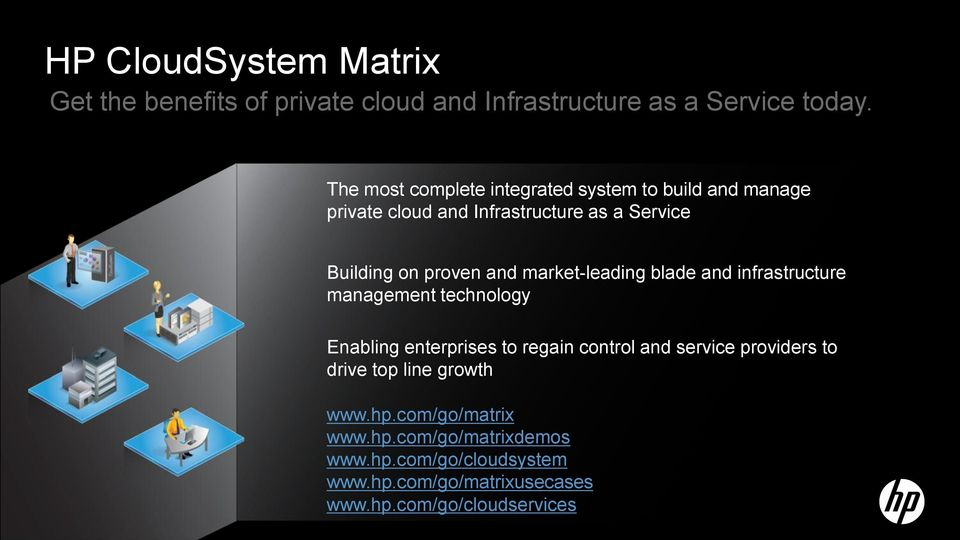 market-leading blade and infrastructure management technology Enabling enterprises to regain control and service providers to