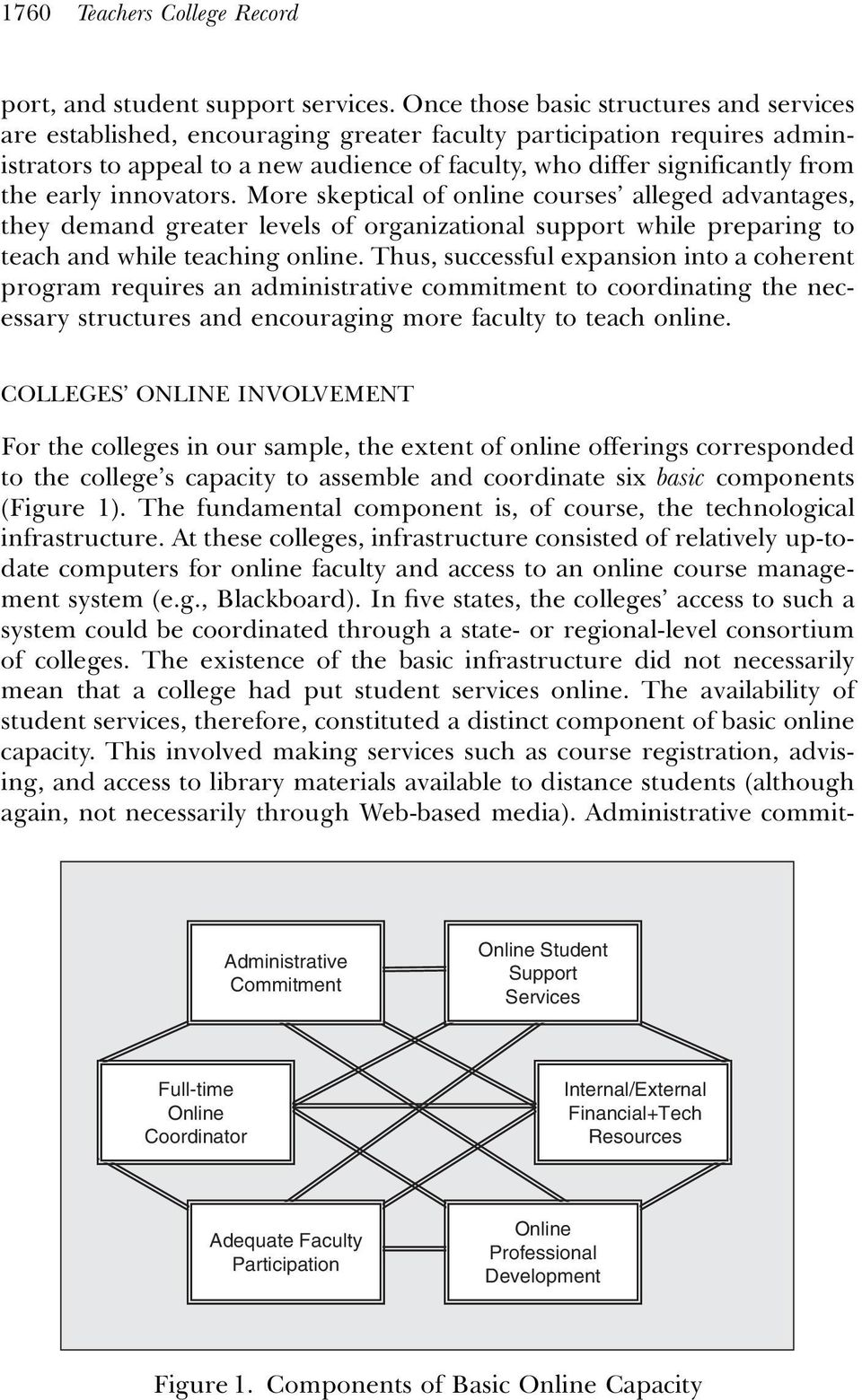 early innovators. More skeptical of online courses alleged advantages, they demand greater levels of organizational support while preparing to teach and while teaching online.