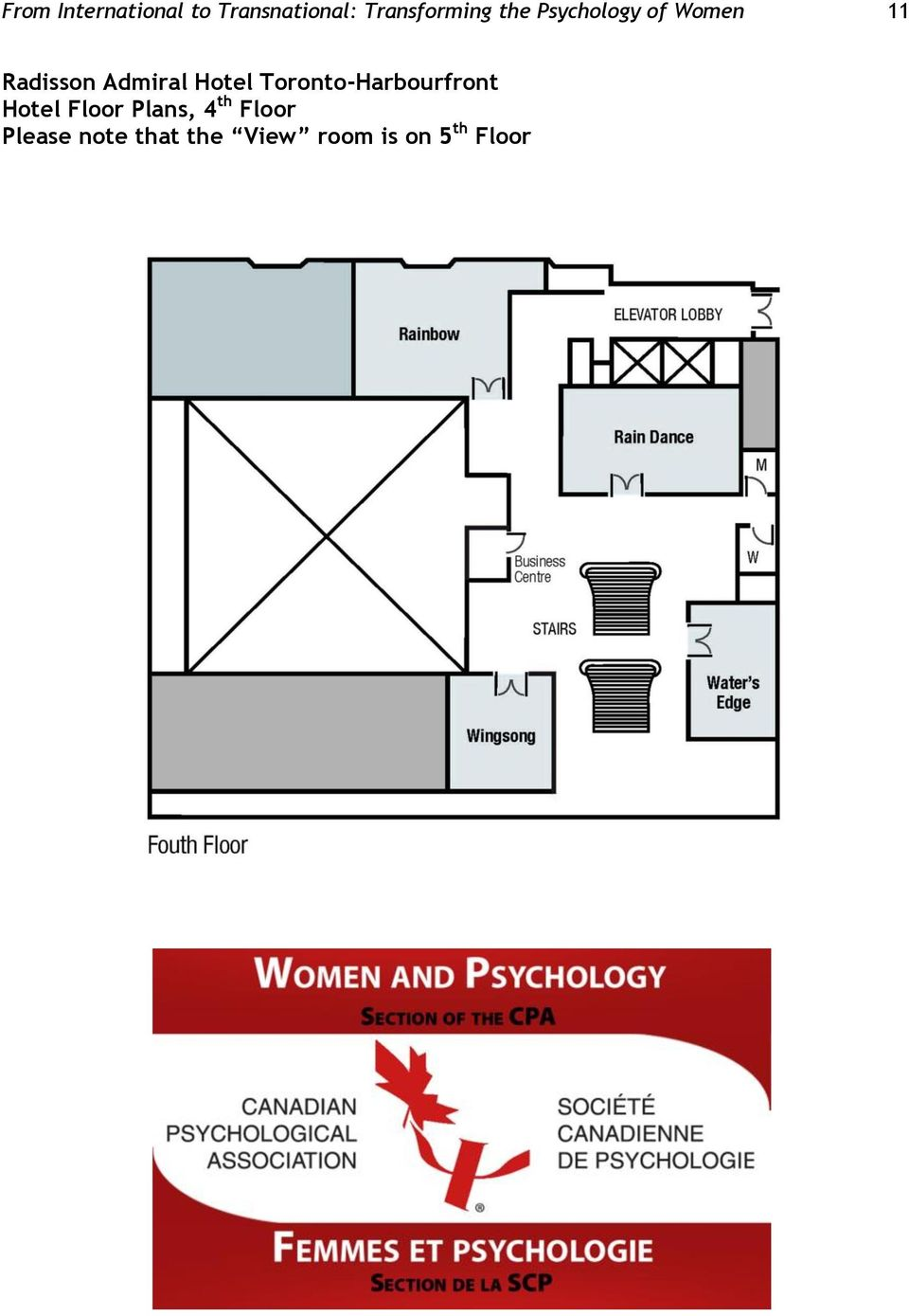 Toronto-Harbourfront Hotel Floor Plans, 4 th