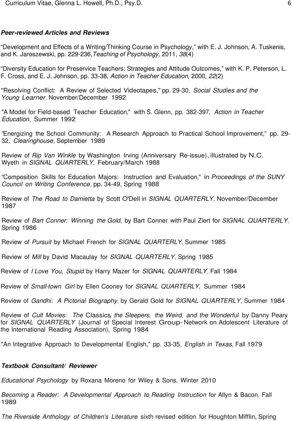 "33-38, Action in Teacher Education, 2000, 22(2) ""Resolving Conflict: A Review of Selected Videotapes,"" pp."