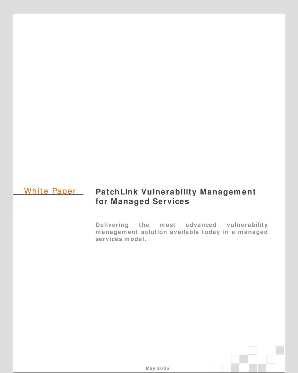 the most advanced vulnerability management