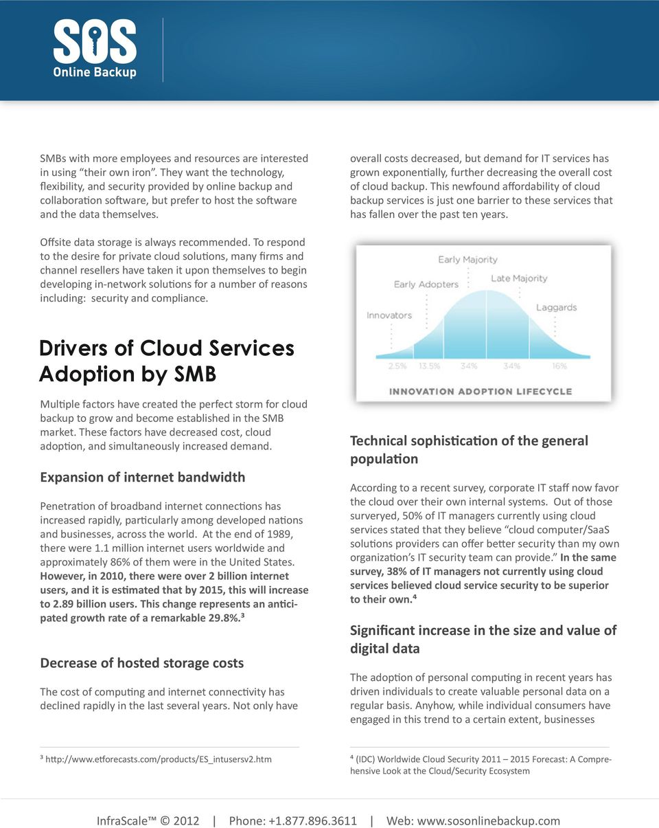 overall costs decreased, but demand for IT services has grown exponentially, further decreasing the overall cost of cloud backup.