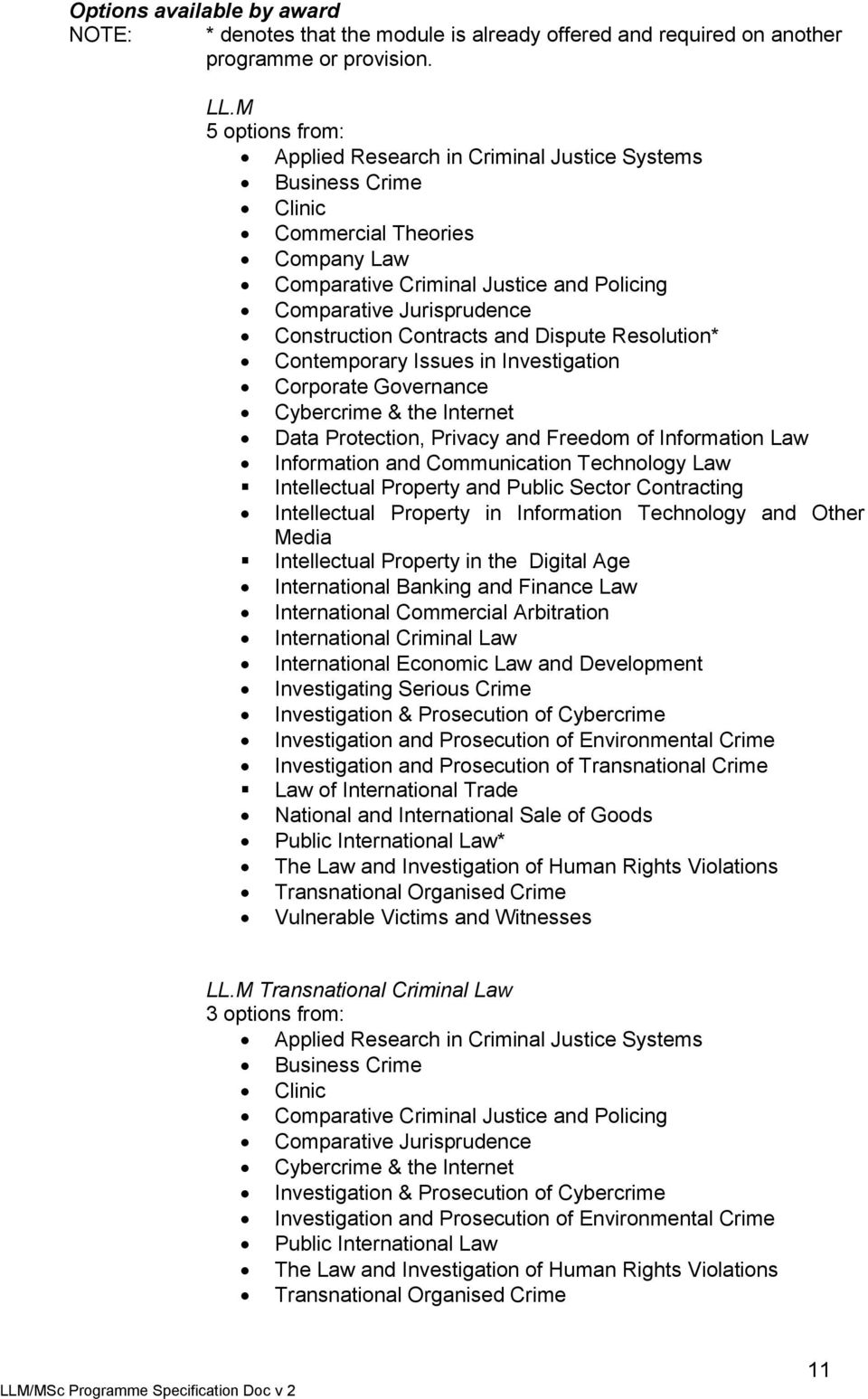 Contracts and Dispute Resolution* Contemporary Issues in Investigation Corporate Governance Cybercrime & the Internet Data Protection, Privacy and Freedom of Information Law Information and