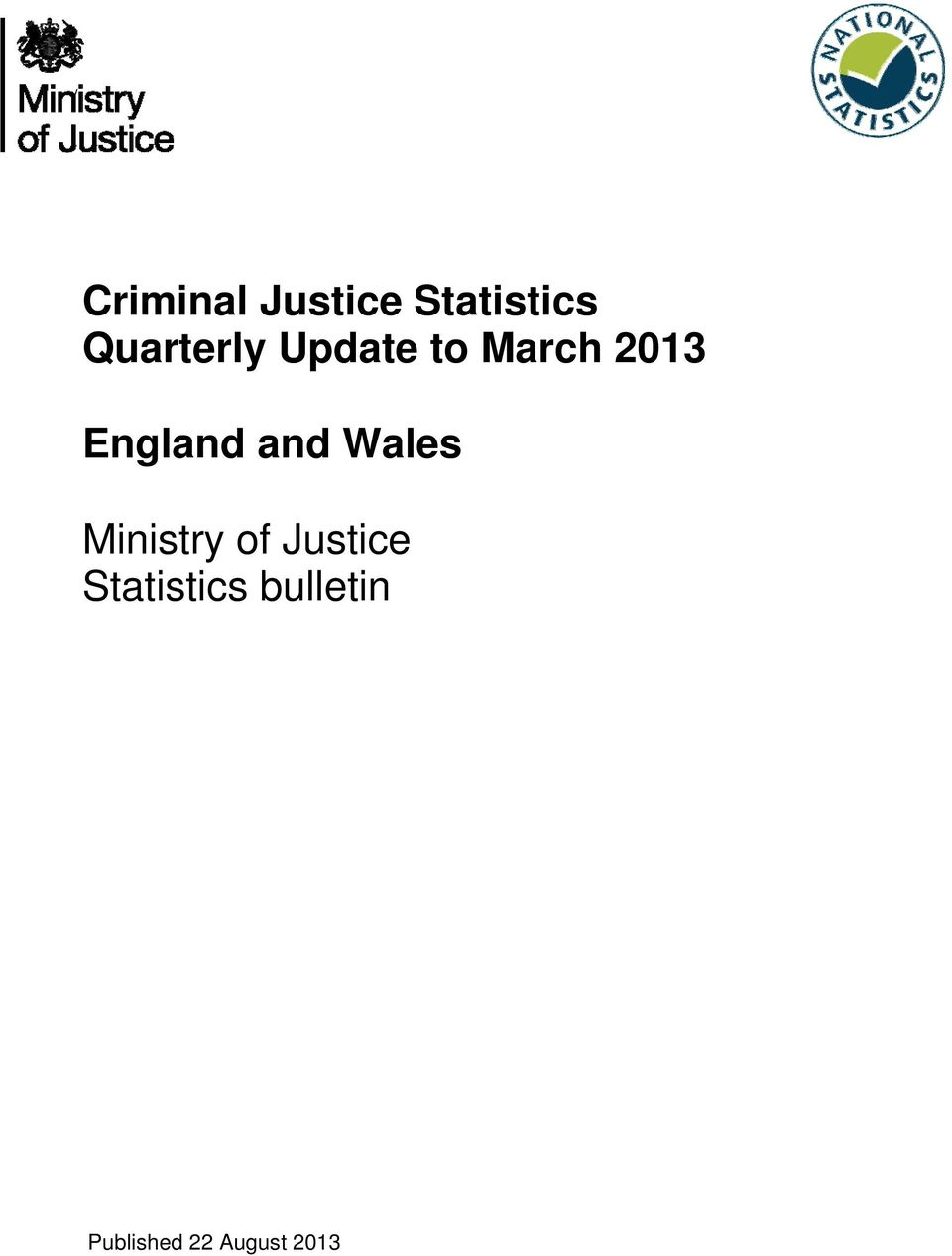 and Wales Ministry of Justice