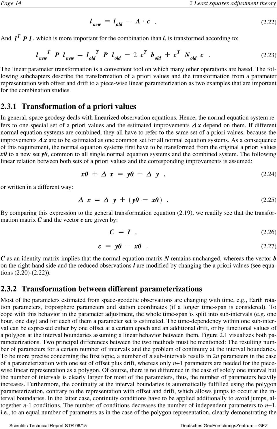 23) The linear parameter transformation is a convenient tool on which many other operations are based.