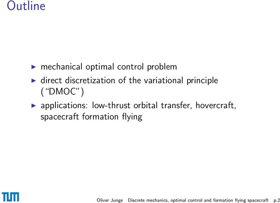 transfer, hovercraft, spacecraft formation flying Oliver Junge