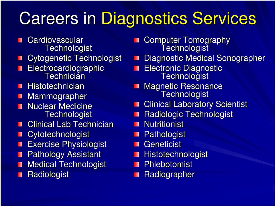 Technologist Radiologist Computer Tomography Technologist Diagnostic Medical Sonographer Electronic Diagnostic Technologist Magnetic