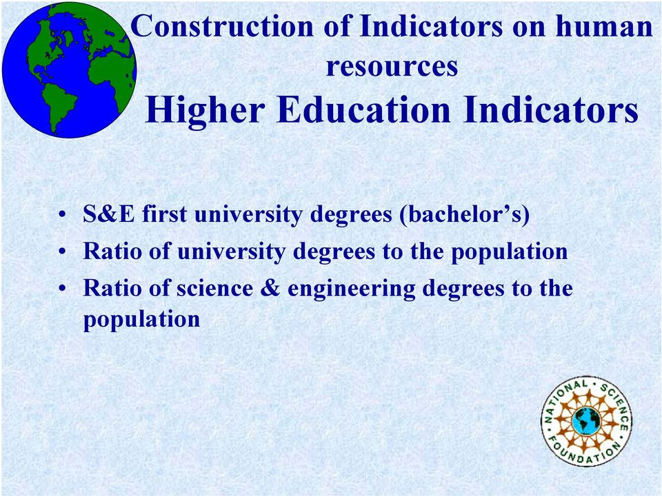 (bachelor s) Ratio of university degrees to the
