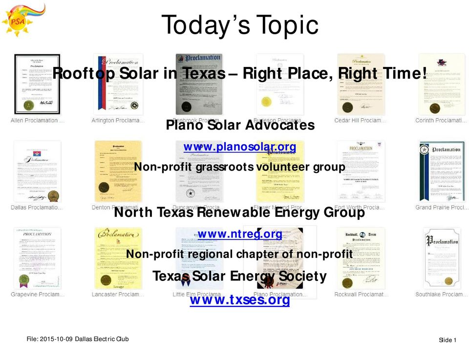 org Non-profit grassroots volunteer group North Texas Renewable Energy Group