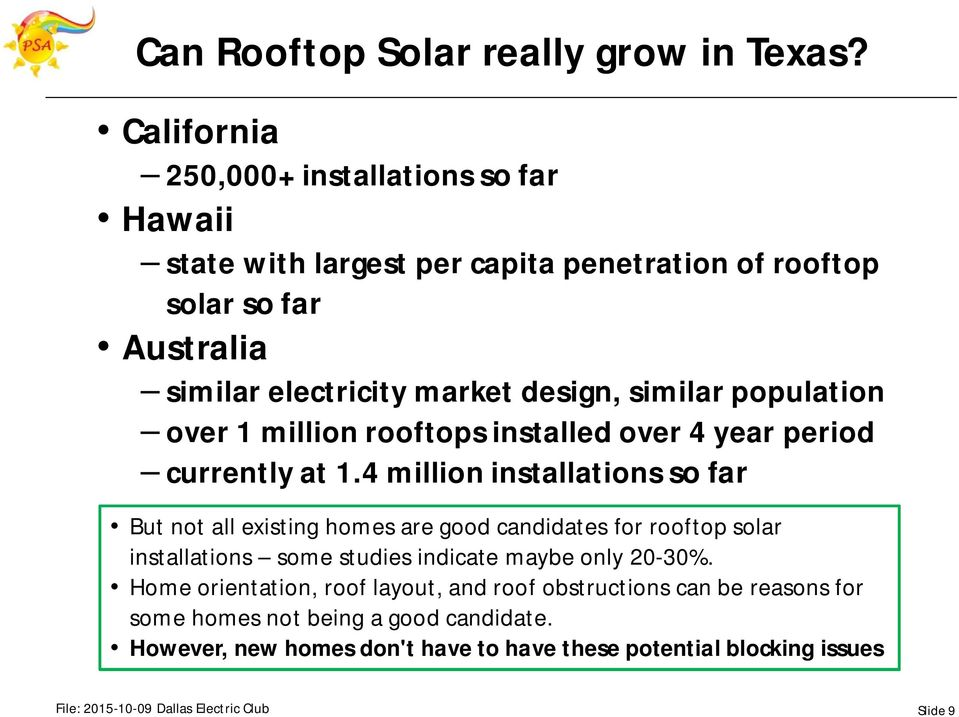 similar population over 1 million rooftops installed over 4 year period currently at 1.