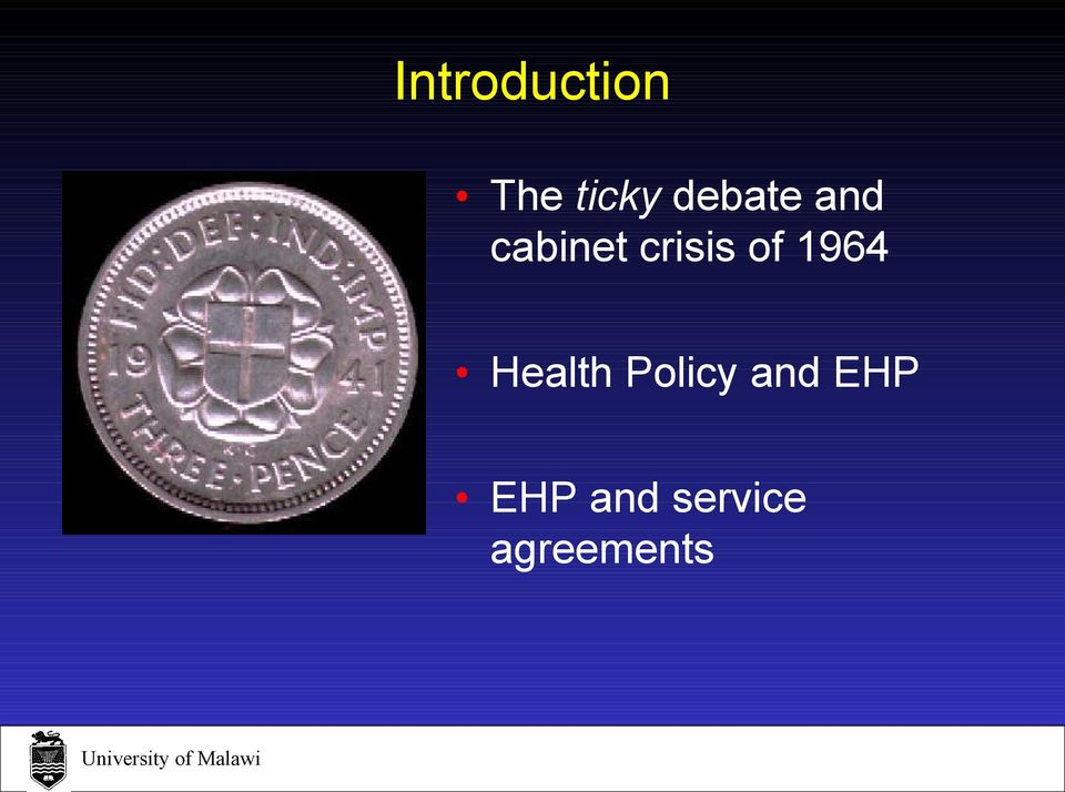 of 1964 Health Policy and