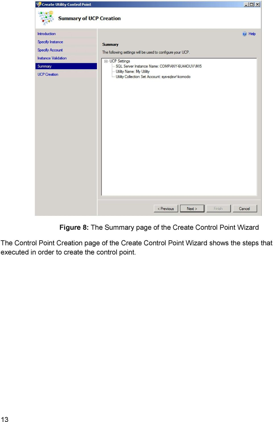 the Create Control Point Wizard shows the steps