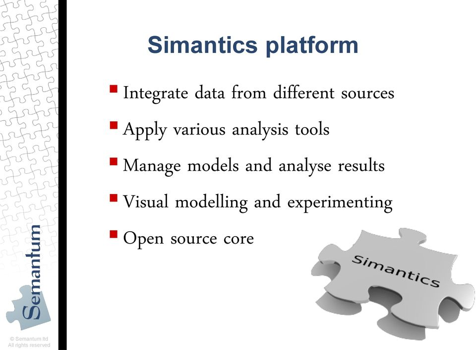 models and analyse results Visual modelling and