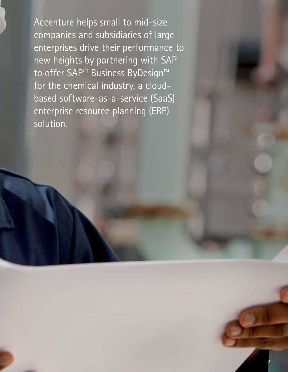 SAP to offer SAP Business ByDesign for the chemical industry, a