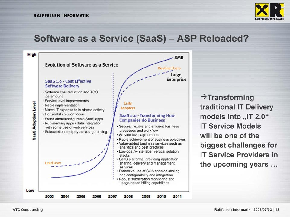 0 IT Service Models will be one of the biggest challenges