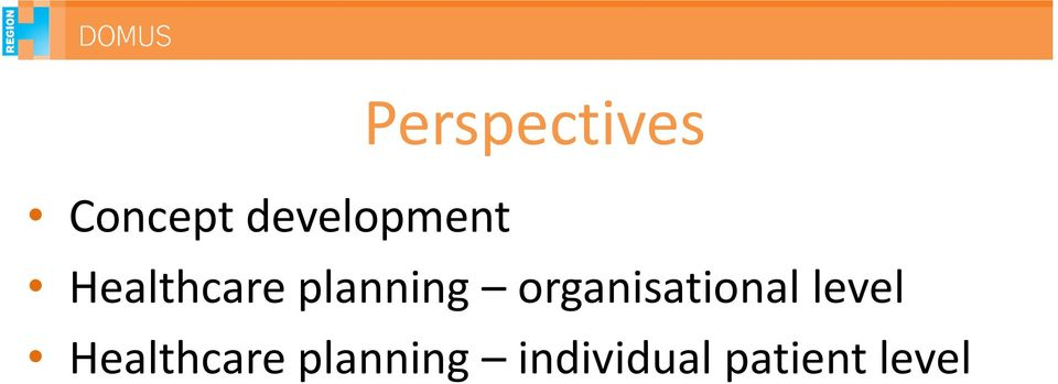 planning organisational level