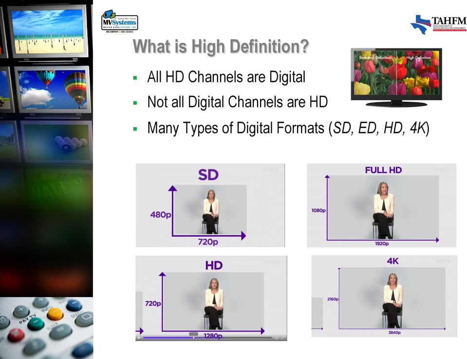 all Digital Channels are HD Many