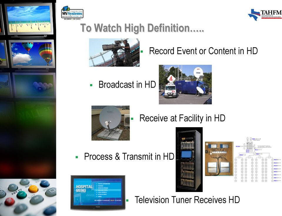 Content in HD Receive at Facility in