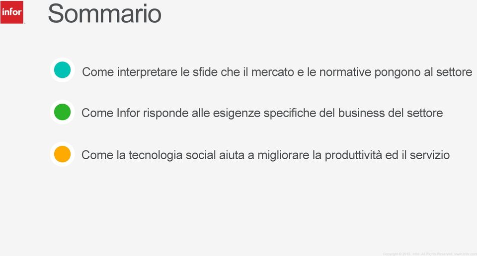 esigenze specifiche del business del settore Come la