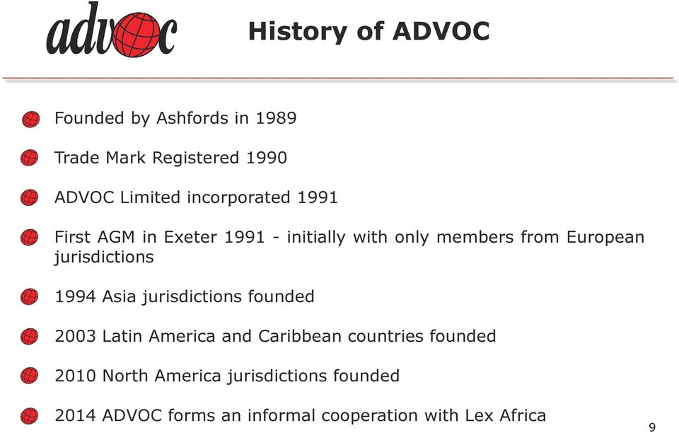 jurisdictions 1994 Asia jurisdictions founded 2003 Latin America and Caribbean countries