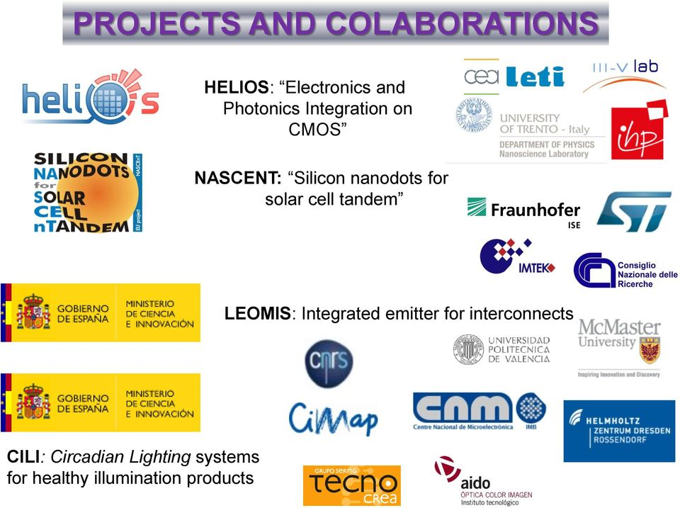 solar cell tandem LEOMIS: Integrated emitter for