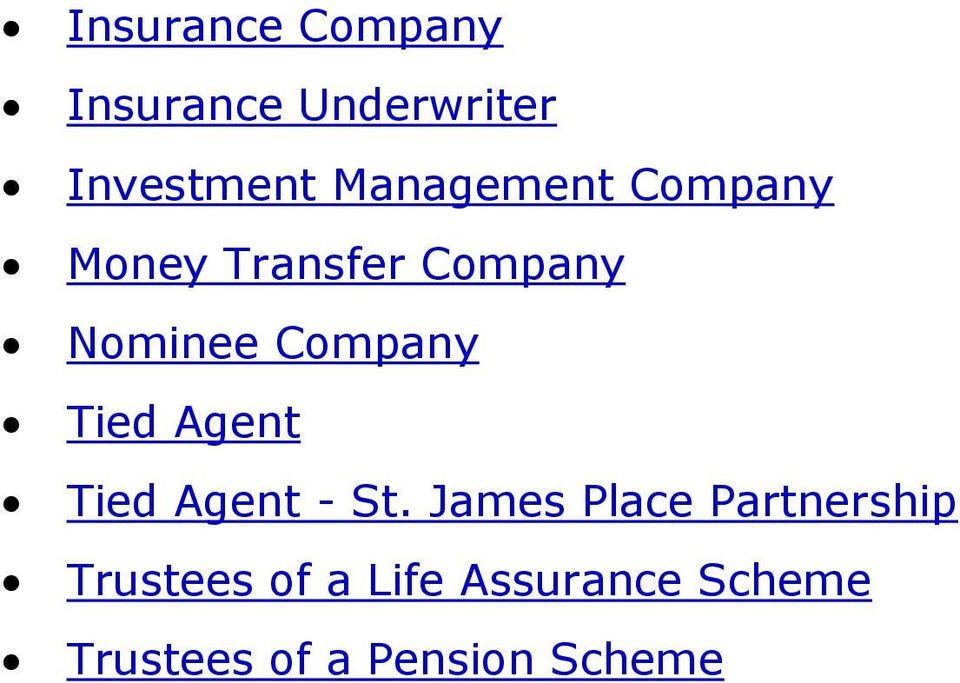 Company Tied Agent Tied Agent - St.