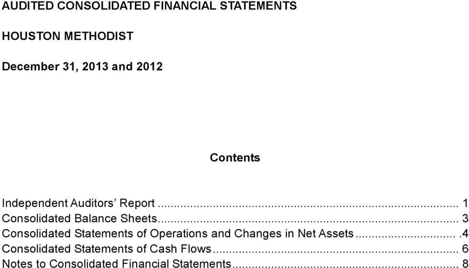 .. 3 Consolidated Statements of Operations and Changes in Net Assets.