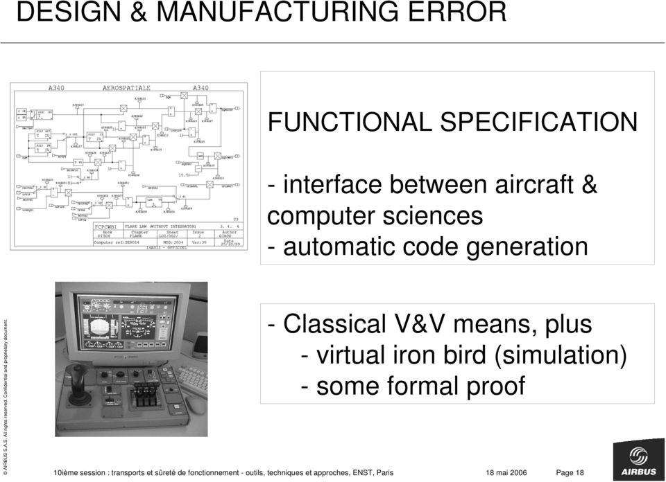 virtual iron bird (simulation) - some formal proof 10ième session : transports et
