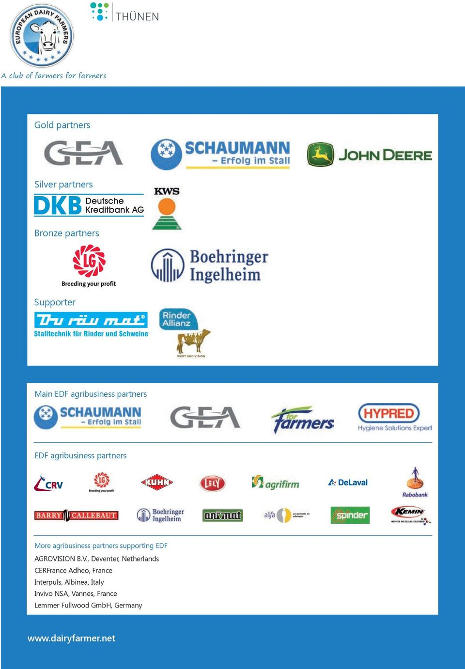 More agribusiness partners supporting EDF AGROVI