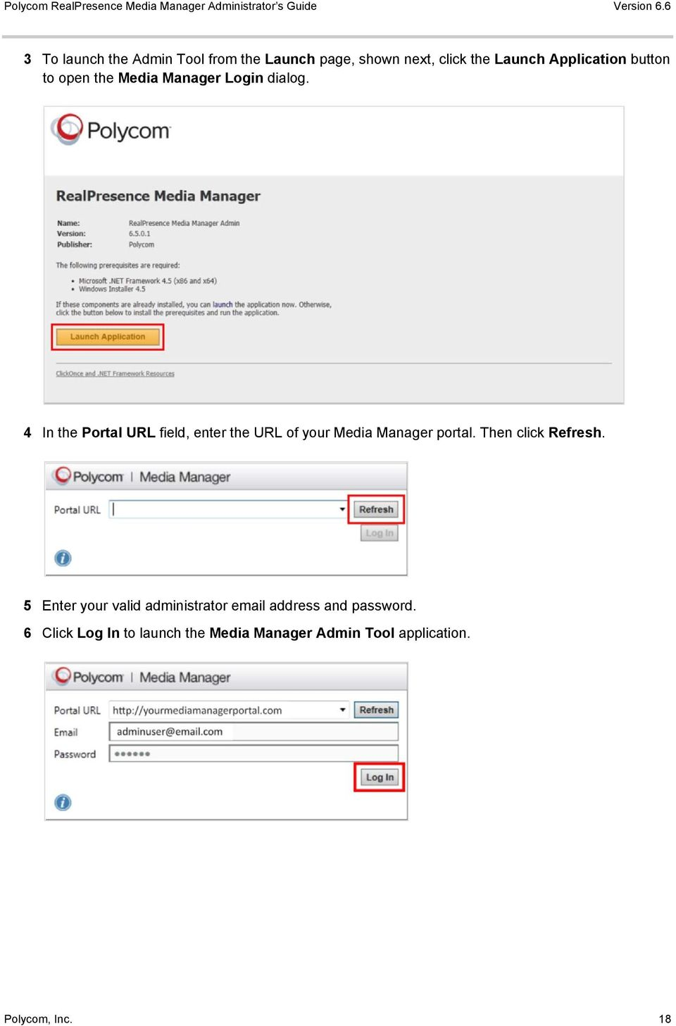 4 In the Portal URL field, enter the URL of your Media Manager portal. Then click Refresh.