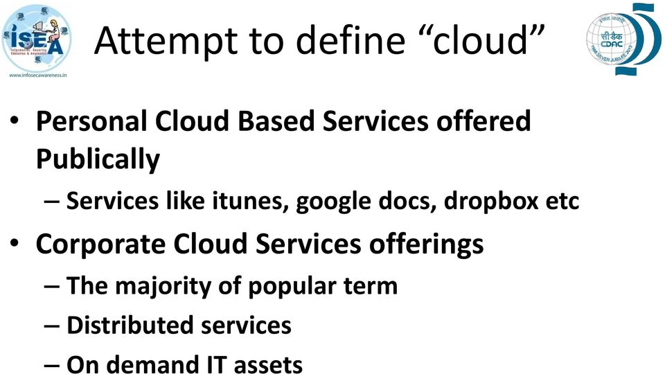 dropbox etc Corporate Cloud Services offerings The