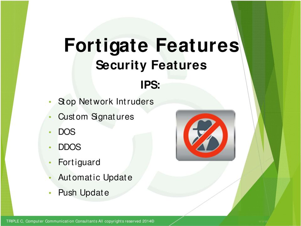 Features Security Features DDOS