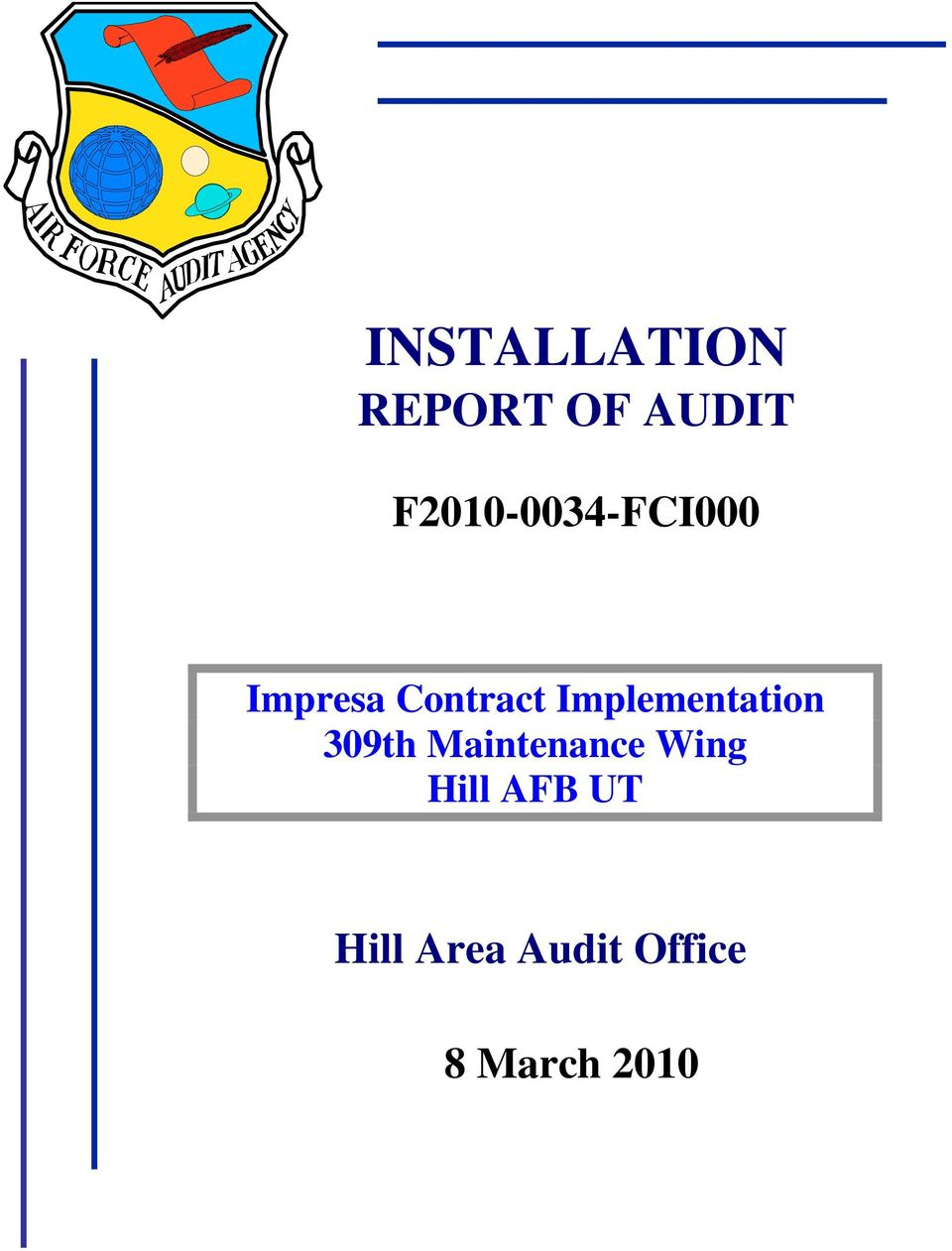 Implementation 309th Maintenance Wing