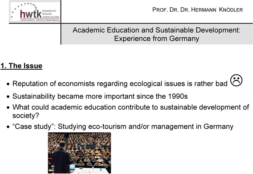 could academic education contribute to sustainable development of